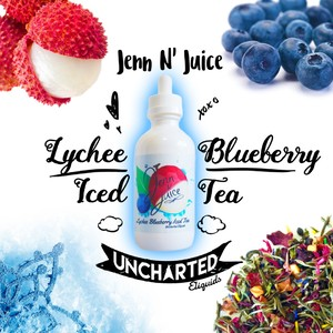 Uncharted Jenn N Juice Lyche Blueberry Iced Tea Salt 60ml