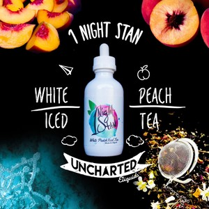 Uncharted 1 Night Stan Whte Peach Iced Tea Salt 60ml